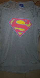 Ladies short sleeve superman tee